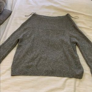 ZARA off the shoulder grey sweater size M